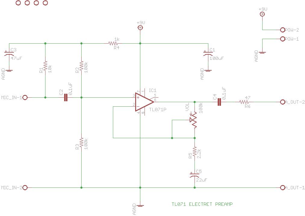 Electret Preamp Circuit | DXARTS | University of Washington