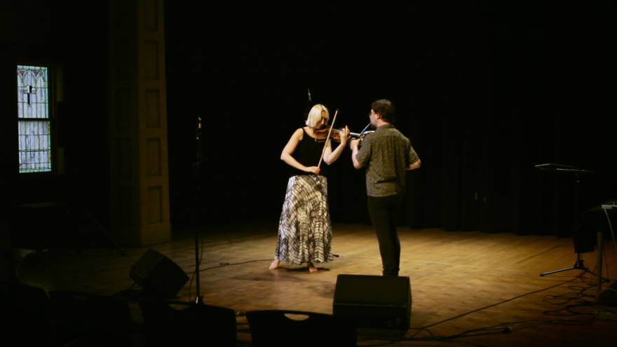 "Ewa Trębacz and Josiah Boothby performing ""Iriviskia"" at the Good Shepherd Center in Seattle"