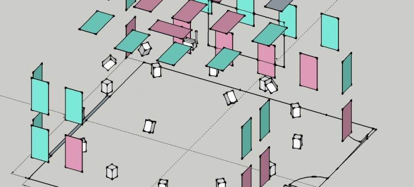 DXARTS Media Lab layout mockup
