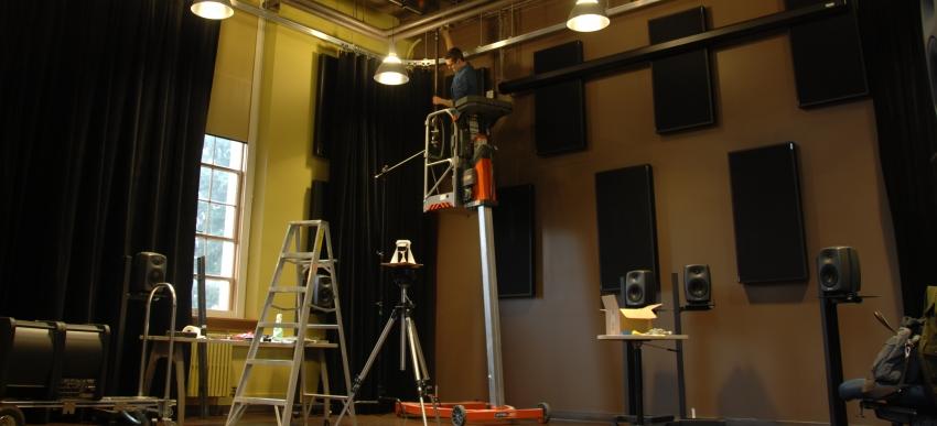 DXARTS Media Lab construction.