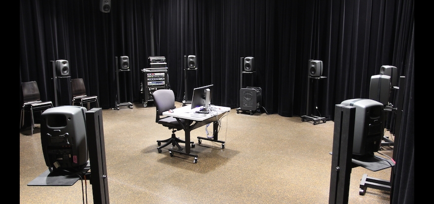 DXARTS Media Lab speaker layout