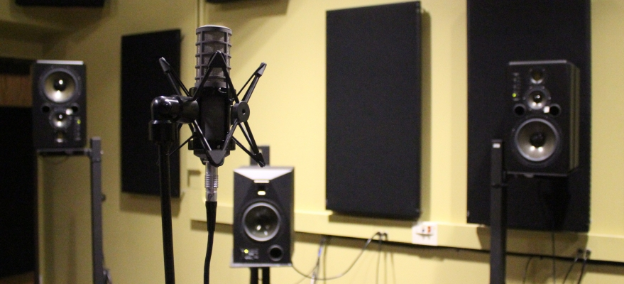3D microphone gathering impulse responses for digital room correction.