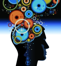 Gears as brain illustration