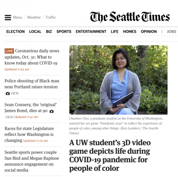 Seattle Times: an interview with Chanhee Choi