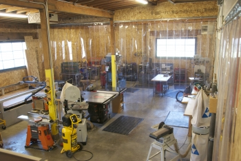 Wood shop space
