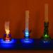 glass candles, modular plexiglass base, iphones, 2019