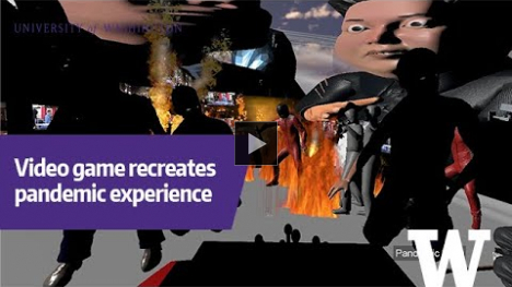 YouTube link to Art video game recreates pandemic experience